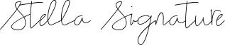 Stella Signature Font