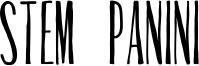 Stem Panini Font