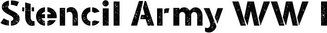 Stencil Army WW I Font