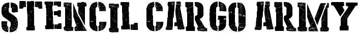 Stencil Cargo Army Font
