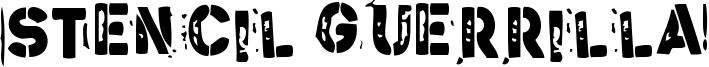 Stencil Guerrilla Font
