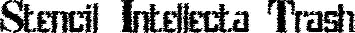 Stencil Intellecta Trash Font
