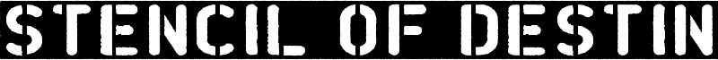 Stencil of Destiny Font