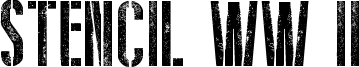 Stencil WW II Font