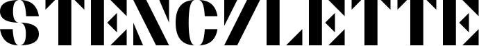 Stencylette Font