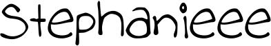 Stephanieee Font