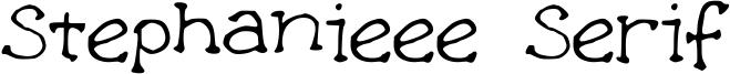 Stephanieee Serif Font