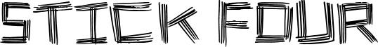 Stick Four Font