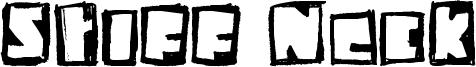 Stiff Neck Font