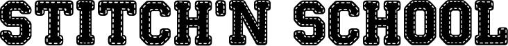 Stitch'n School Font