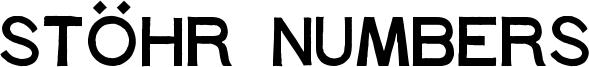 Stöhr Numbers Font