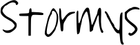 Stormys Font