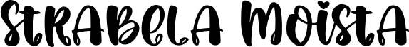 Strabela Moista Font