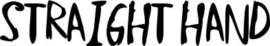 Straight Hand Font