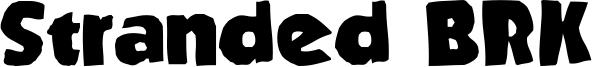 Stranded BRK Font