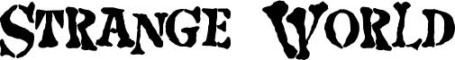 Strange World Font