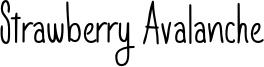 Strawberry Avalanche Font