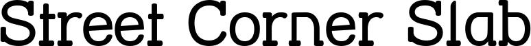Street Corner Slab Font