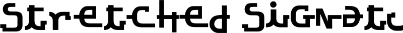 Stretched Signature Ext Bold.ttf