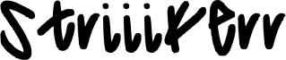 Striiikerr Font