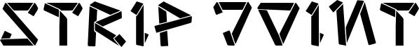 Strip Joint Font