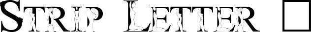 Strip Letter 1 Font