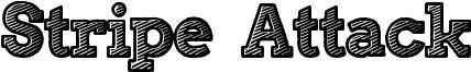 Stripe Attack Font