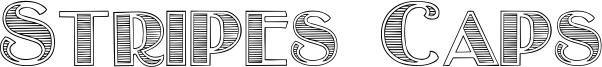 Stripes Caps Font