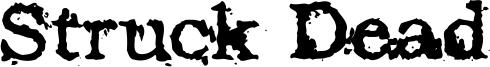 Struck Dead Font
