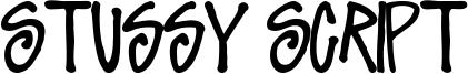 Stussy Script Font