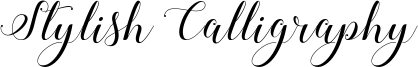 Stylish Calligraphy Font