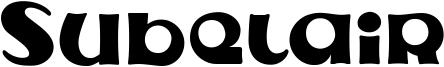 Subelair Font