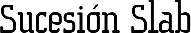 Sucesión Slab Font