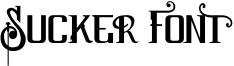 Sucker Font Font