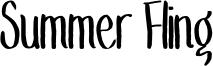 Summer Fling Font