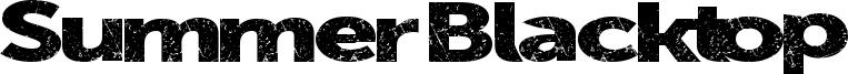 Summer Blacktop Font