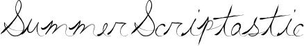 Summer Scriptastic Font