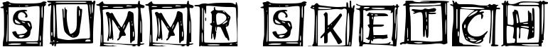 Summr Sketch Font