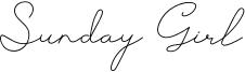 Sunday Girl Font