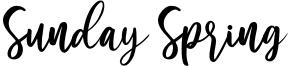 Sunday Spring Font