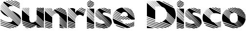 Sunrise Disco Font