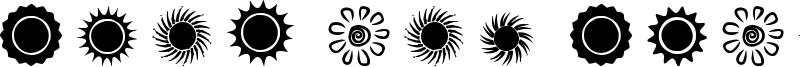 Suns and Stars Font