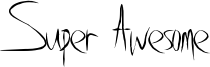 Super Awesome Font