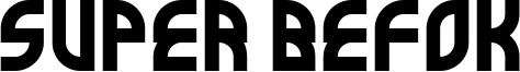 Super Befok Font