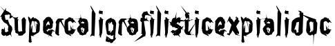 Supercaligrafilisticexpialidoc Font