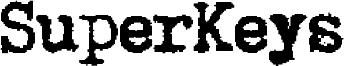 SuperKeys Font