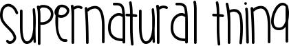 Supernatural Thing Font