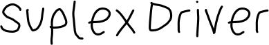 Suplex Driver Font
