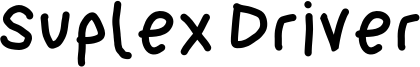 SuplexDriverBlack.otf