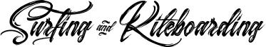 Surfing & Kiteboarding Font